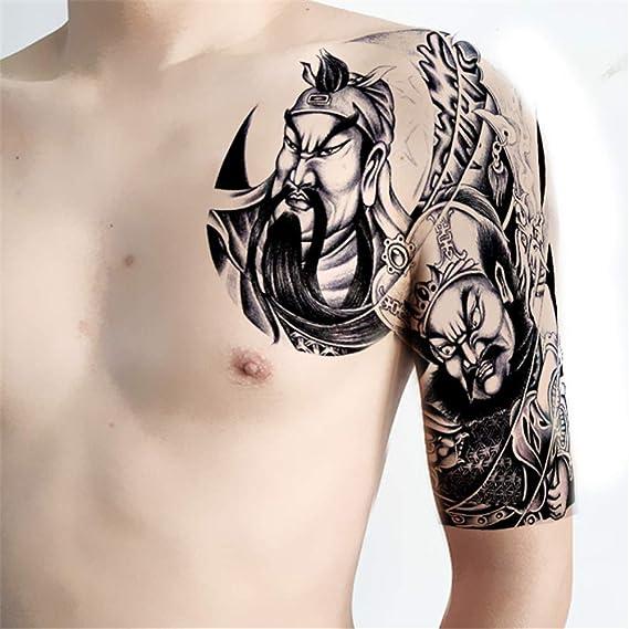 tzxdbh Nueva Media Armadura de Pegatinas para Tatuajes a Prueba de ...