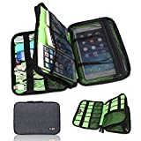 BUBM Universal Cable Organizer Electronics Accessories Case Various USB, Phone, Charge, Cable Organizer Travel Organizer – Double Layer – Black