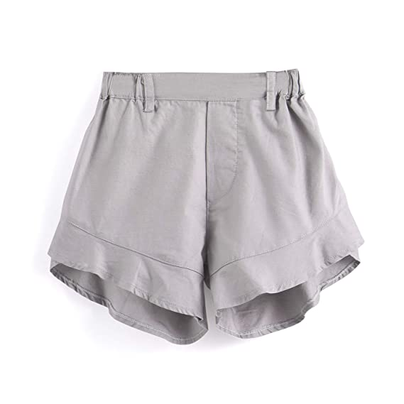 Aimama Baby Shorts Cotton Ruffled Short Pants with Elastic Waistband Pink