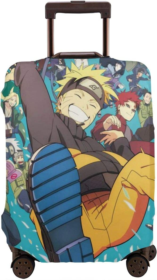 Travel Luggage Cover Anime Naruto Travel Luggage Cover Suitcase Protector Fits 26-28 Inch Washable Baggage Covers