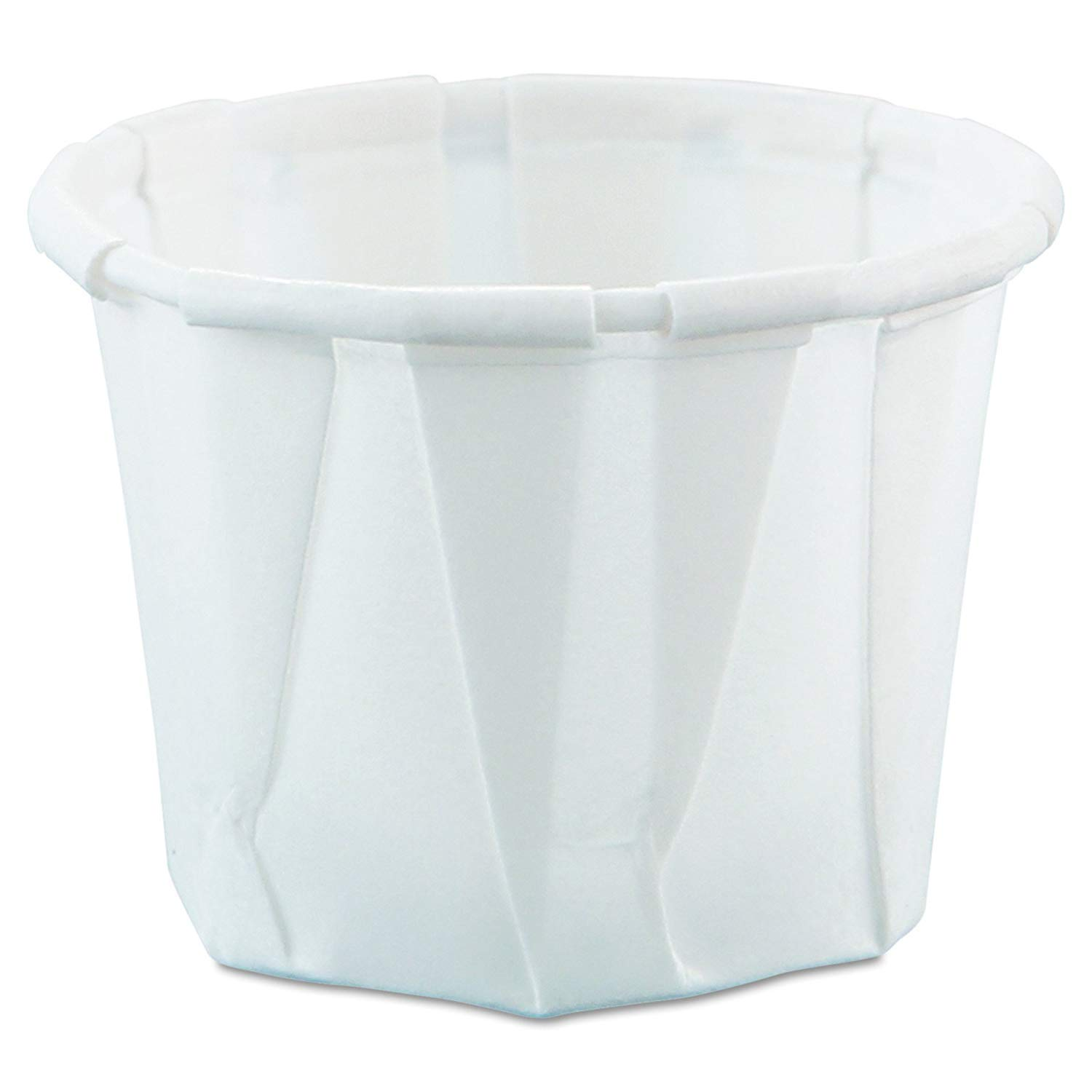 SOLO Cup Company Treated Paper Souffle Portion Cups, 1/2 oz, White, 250 per Bag, 20 Sleeves of 250 Cups, 5000 per Case by SOLO Cup Company