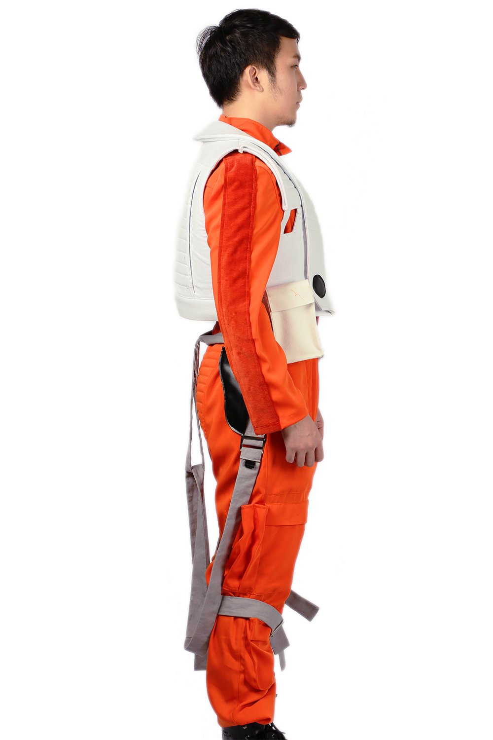 XCOSER Poe Dameron Costume Deluxe Orange Jumpsuit Suit Halloween Cosplay Outfit XL by xcoser (Image #6)