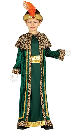 Guirca- Disfraz infantil de Rey Mago, Color verde, 5-6 años ...