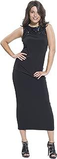 product image for Eva Varro Women's Long Dbl Pencil Skirt Black