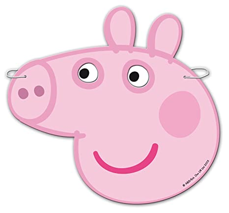 for parties and birthdays Pack 12 masks Peppa Pig 0553