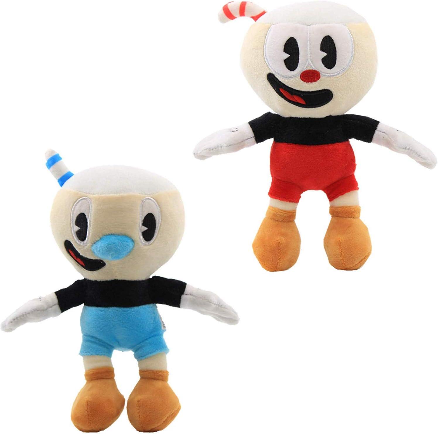 2 PC 10/'/' Cuphead Game Soft Plush Doll Cuphead /& Mugman Best Kids Baby Gift