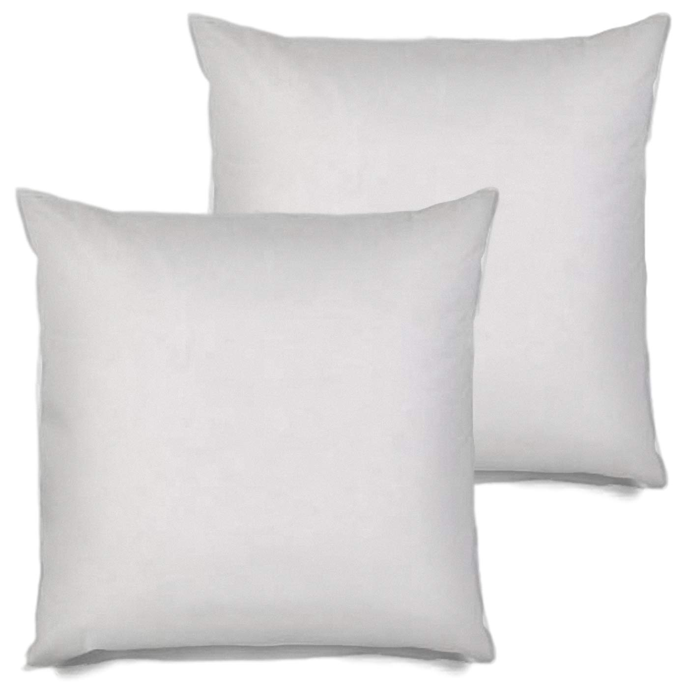 MSD 2 Pack Pillow Insert 28x28 Hypoallergenic Square Form Sham Stuffer Standard White Polyester Decorative Euro Throw Pillow Inserts for Sofa Bed - Made in USA (Set of 2) - Machine Washable and Dry