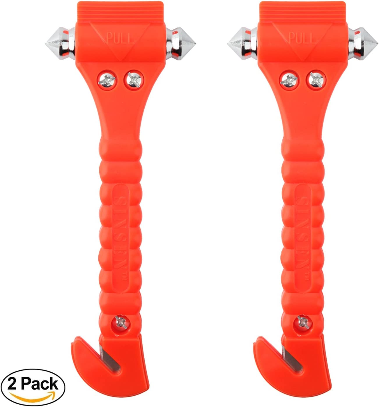 Car Safety Hammer Set of 2 Emergency Escape Tool Auto Car Window Glass Hammer Breaker and Seat Belt Cutter Escape 2-in-1 for Family Rescue & Auto Emergency Escape Tools (2 PCS): Automotive