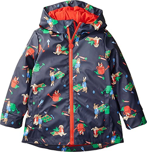 Joules Kids Baby Boy's Printed Waterproof Coat (Toddler/Little Kids/Big Kids) Navy Garden 4 by Joules Kids