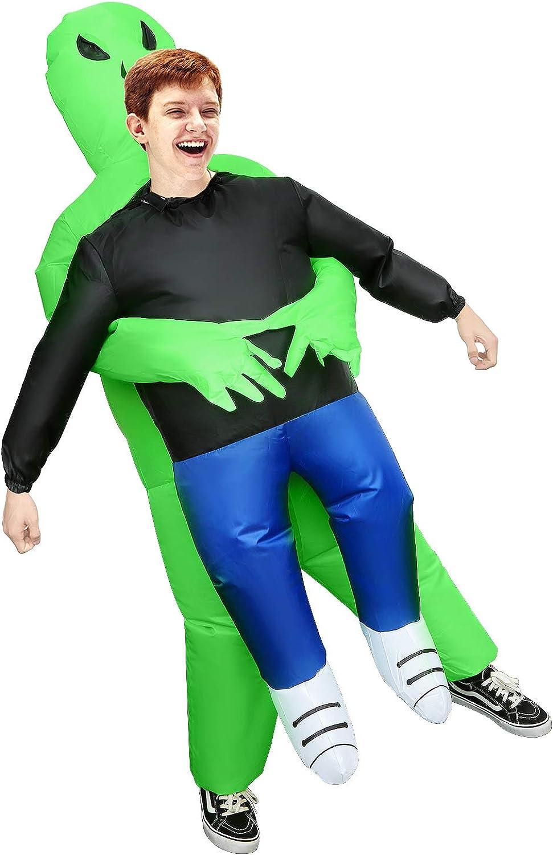 Huishang Inflatable Alien Costume for Kids Funny Halloween Costumes Cosplay Fantasy Costume Kids Alien