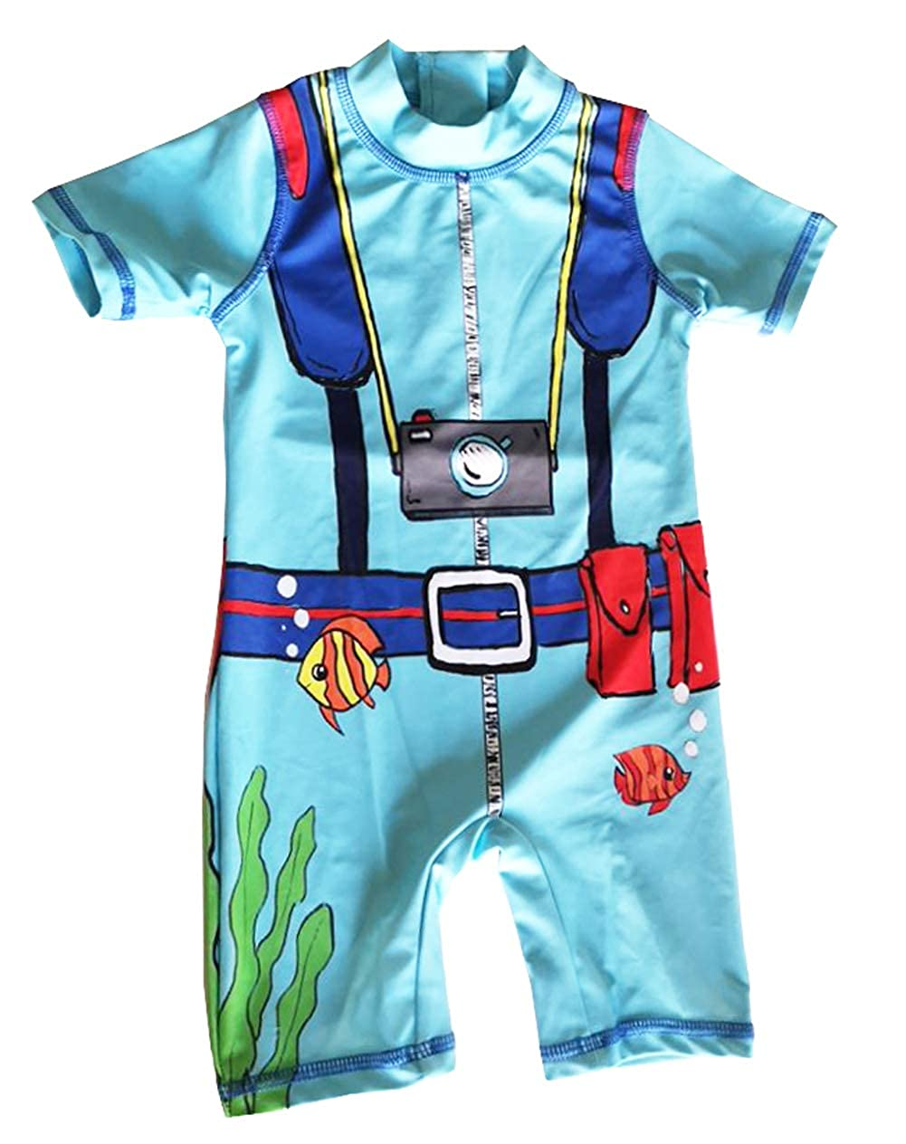 Infant Baby Boys Sunsuits Rash Guard Swimsuit Swimwear UPF 50+ Sun Protection