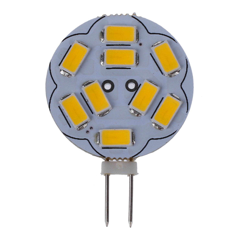 SODIAL(R) 3W G4 9LED Bulbs,SMD5730 AC/DC 10-30V, 280lm, 120 degree Beam Angle, Warm White, G4 Bulb, Bi-Pin Light Bulbs, LED Light Bulbs 10 pcs