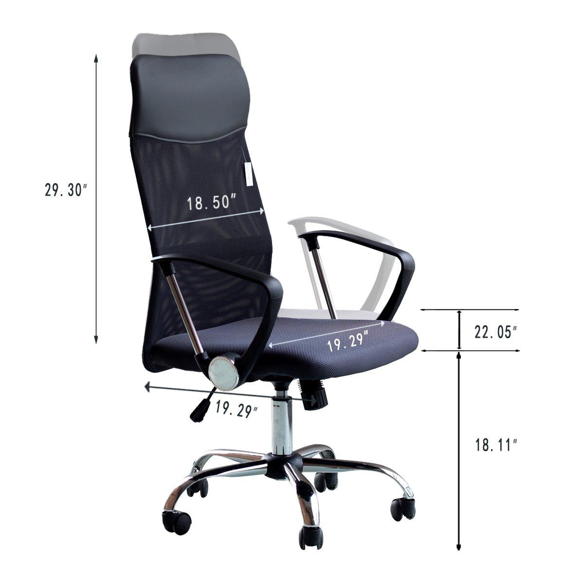 Bürostuhl ergonomisch höhenverstellbar  Bürostuhl Drehstuhl Chefsessel Computertischstuhl ...