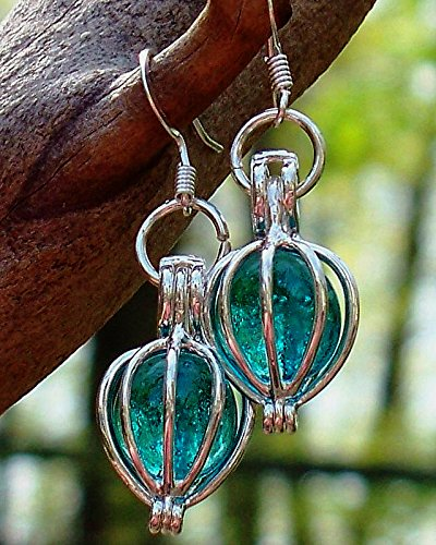 Glass Vintage Earring (Recycled Vintage Mason Jar Drop Earrings)