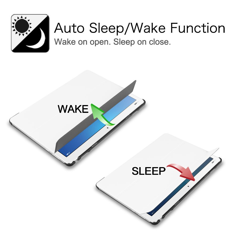 Super Thin Lightweight Stand Cover with Auto Sleep//Wake Feature for Huawei MediaPad M3 10 Lite Tablet Shades of Blue Fintie Huawei MediaPad M3 Lite 10 SlimShell Case