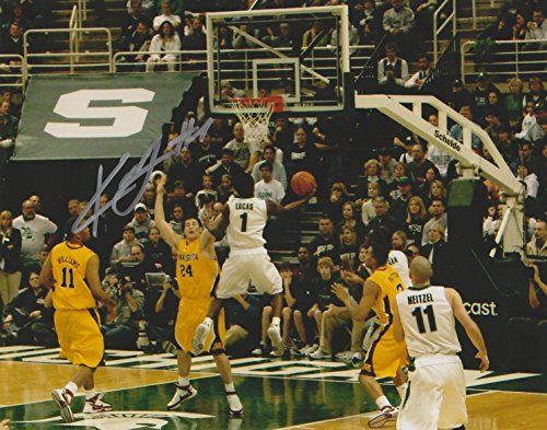 Kalin Lucas Michigan State Spartans NCAA 8x10 Autographed Photo - vs Minnesota Golden Gophers
