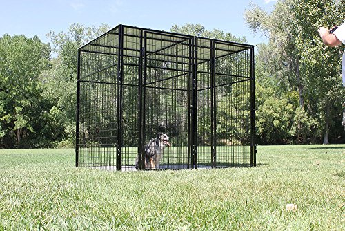 Cove Products K9 Kennel Store 7' Tall 8' X 8' Welded Wire Complete Dog Kennel System
