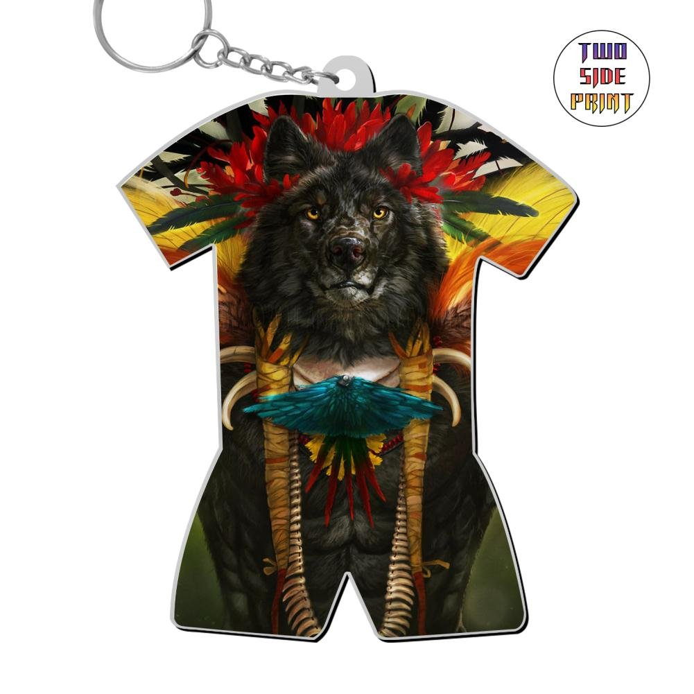 Cute Keychain Bird Of Paradise Keyring World Cup Polo Shirt Logo Key Ring Key Fob Alloy Nice Gift