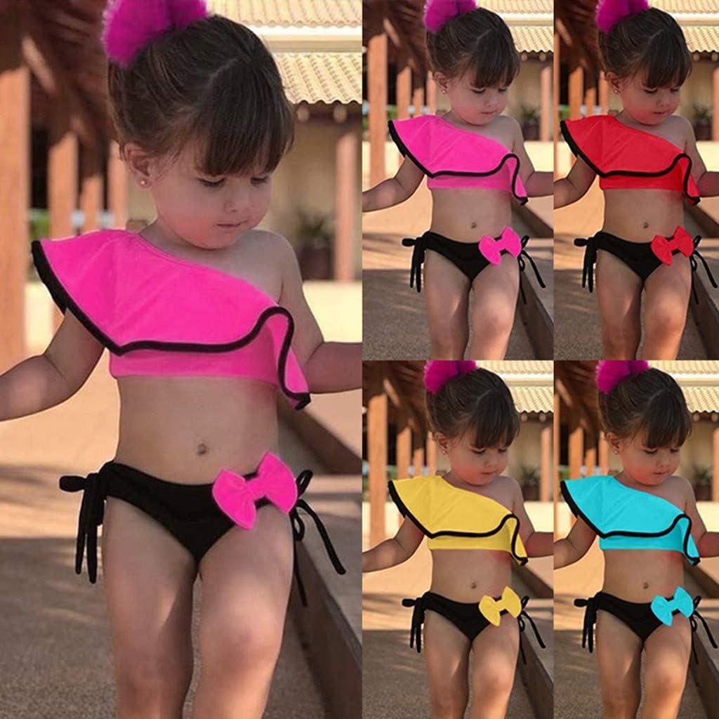 Toddler Baby Girls Ruffle Swimwear Jumpsuit Bodysuit Romper Outdit Age 1-3 Yrs