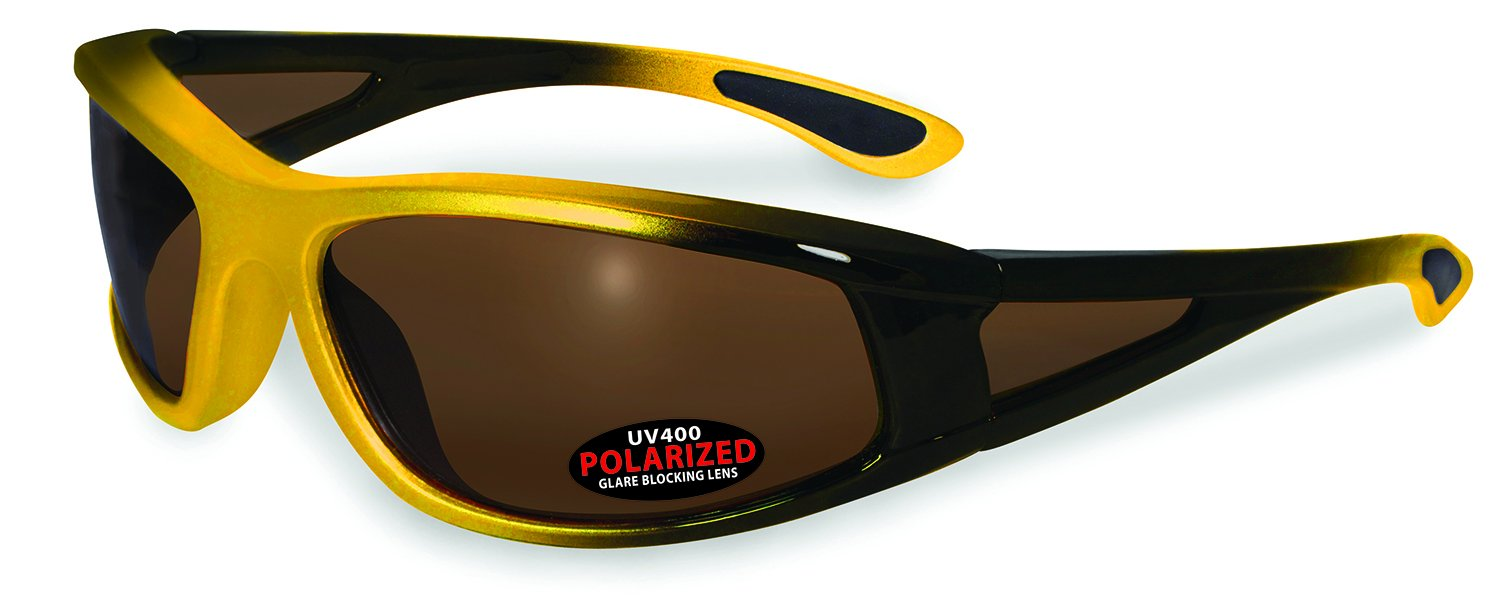 SSP Eyewear PUYALLUP YLW BRZ Mazama Puyallup Unisex Polarized Sunglasses with Bronze Lenses, Yellow