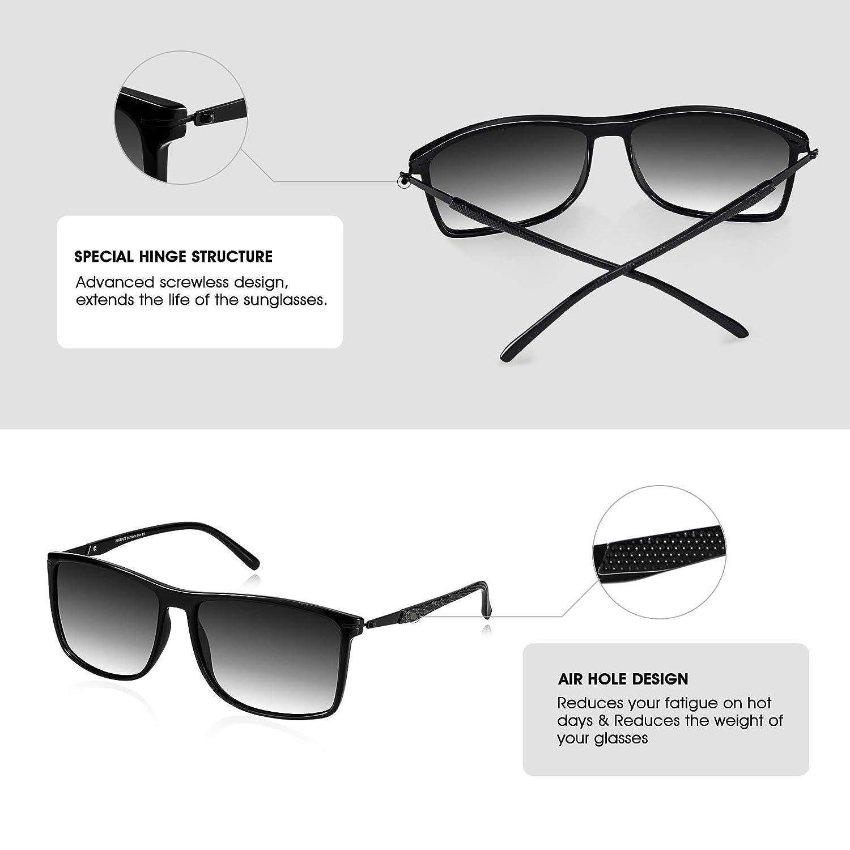 Anti-Allergia PORPEE Occhiali da Sole polarizzati Uomo Donna Moda 2019 Super Leggero Metallo /& TR90 Telaio - Lenti in Nylon Polarizzato HD 100/% Protezione UV400