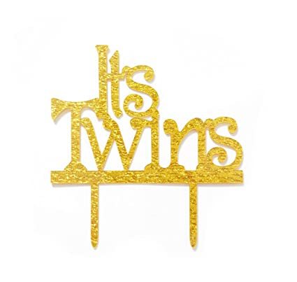 Amazon Qttiertm Its Twins Cake Topper Twins Baby Shower