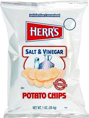 Herrs – Salero y vinagre patatas, paquete de 84 bolsas ...