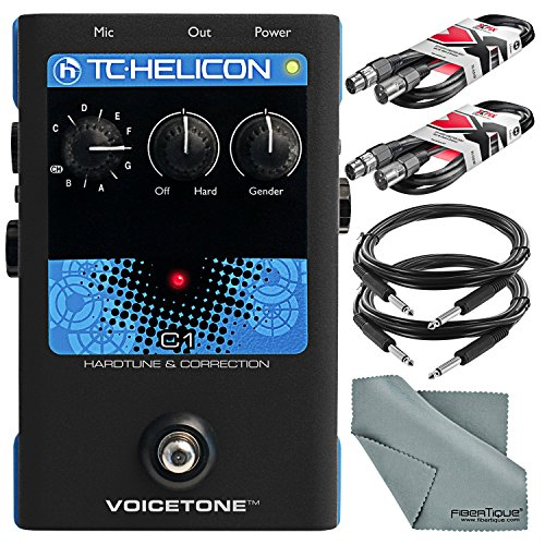 TC Electronic VoiceTone C1 Vocal Effects Processor and Accessory Bundle with Xpix Cables & Fibertique Cloth by Photo Savings