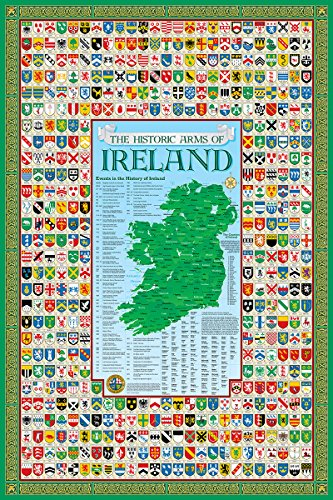 Historic Families Irish Family Crest Coat of Arms Poster Ireland