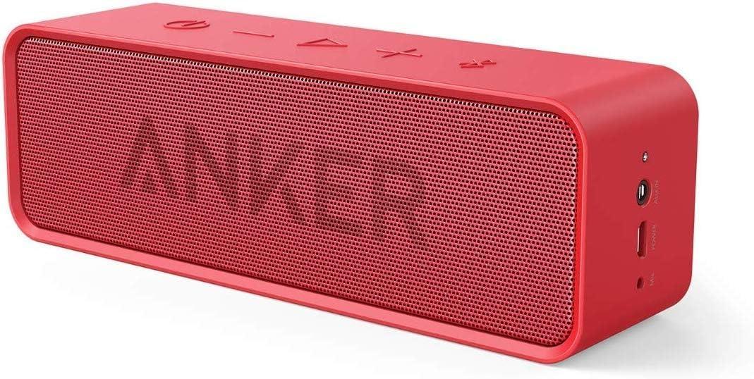 Anker Soundcore Bluetooth Lautsprecher Tragbarer Lautsprecher Mit Unglaublicher 24 Stunden Akkulaufzeit Und 6w Dual Treiber Reinem Bass Und Eingebautem Mikrofon Für Iphone Galaxy Usw Rot Audio Hifi