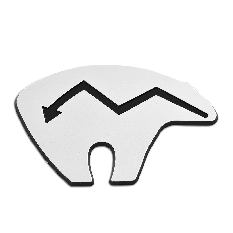 Fetish Bear Chrome Auto Emblem 4.25 x 2.75 EvolveFISH EF-EMB-P-00034