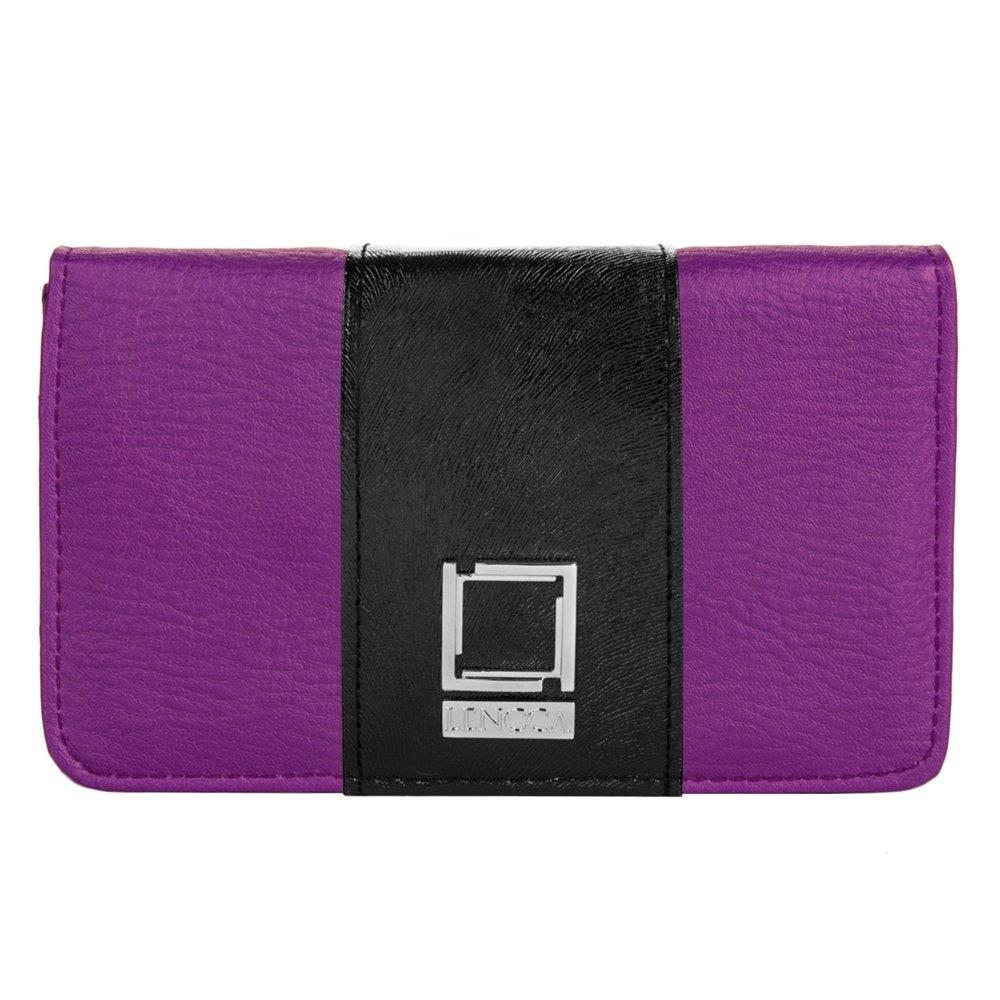 Purple / Black Evening Clutch for Oppo Phones by BestPriceCenter