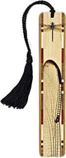 product image for Dragonfly Wing in Color Wooden Bookmark with Tassel - Search B07998457X for Personalized Version