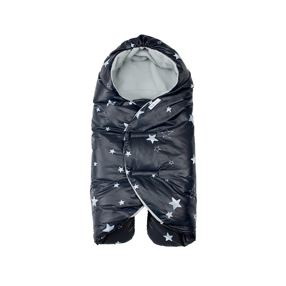 7 A.M. Enfant Nido Quilted (Print Black Stars, Small)