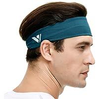 Vgogfly Sweat Headbands for Men Sweatbands for Mens Headband Running Sweat Bands Headbands Men Workout Sports Hairband…