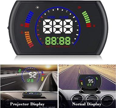 Car OBD2 II HUD Head Up Display Alarm Warning Windshield White Speedometer