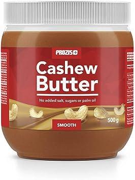 Prozis Cashew Butter 500g - Textura Deliciosa y Cremosa - Fuente Natural de Proteína - Apto para Veganos, Dietas Kosher y Halal - Sin Lactosa, Sal, ...