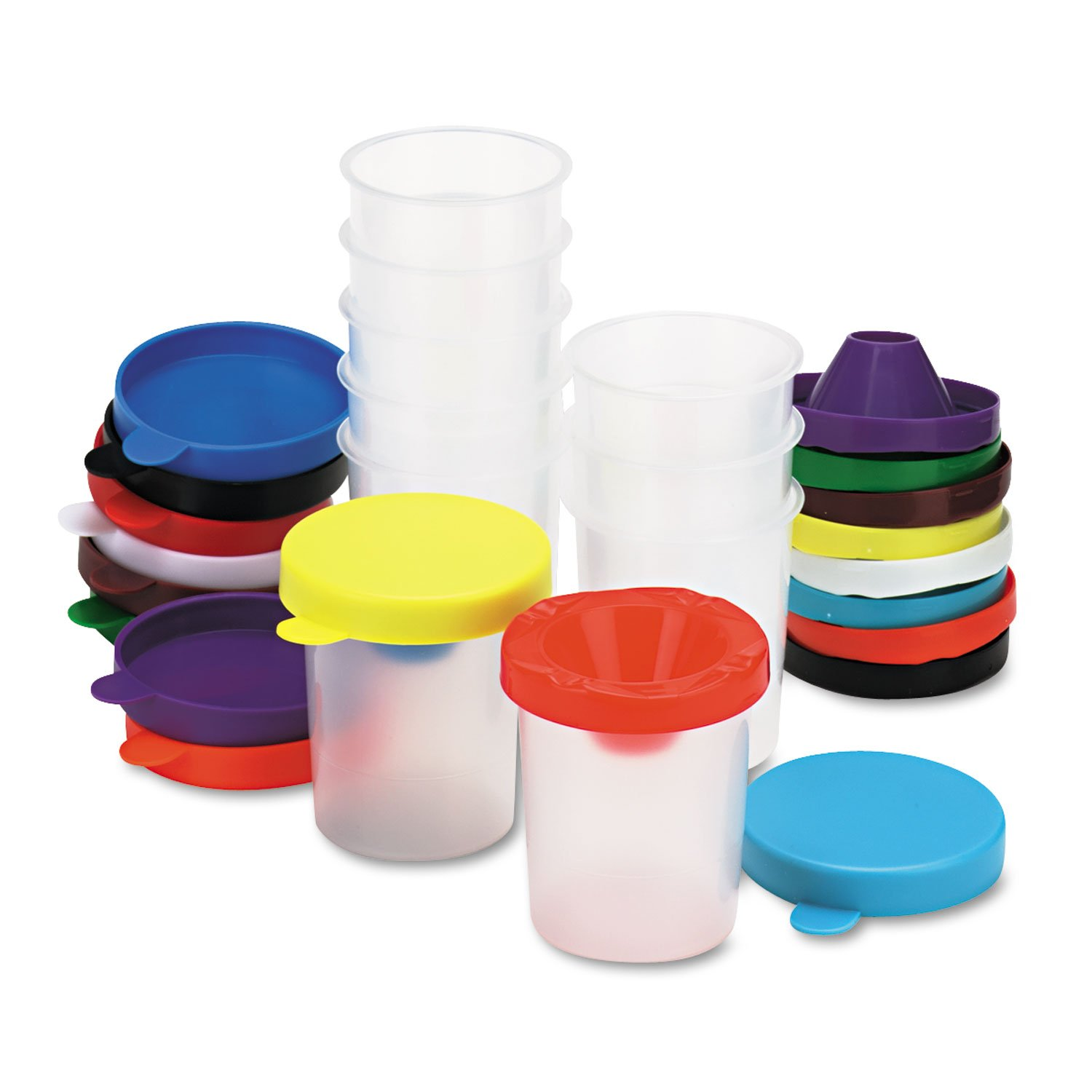 Chenille Kraft 5100 No-Spill Paint Cups, 10/Set by Telisorynice