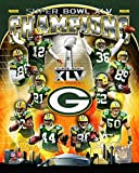 Green Bay Packers Super Bowl XLV Champions Composite (Vertical) Photo 11 x 14in