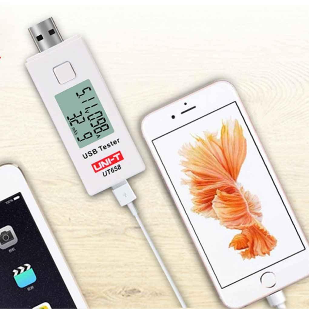 Topker UNI-T UT658 USB Testeur Voltm/ètre Amp/èrem/ètre Num/érique LCD Tension Moniteur Testeur de Capacit/é de Compteur Courant