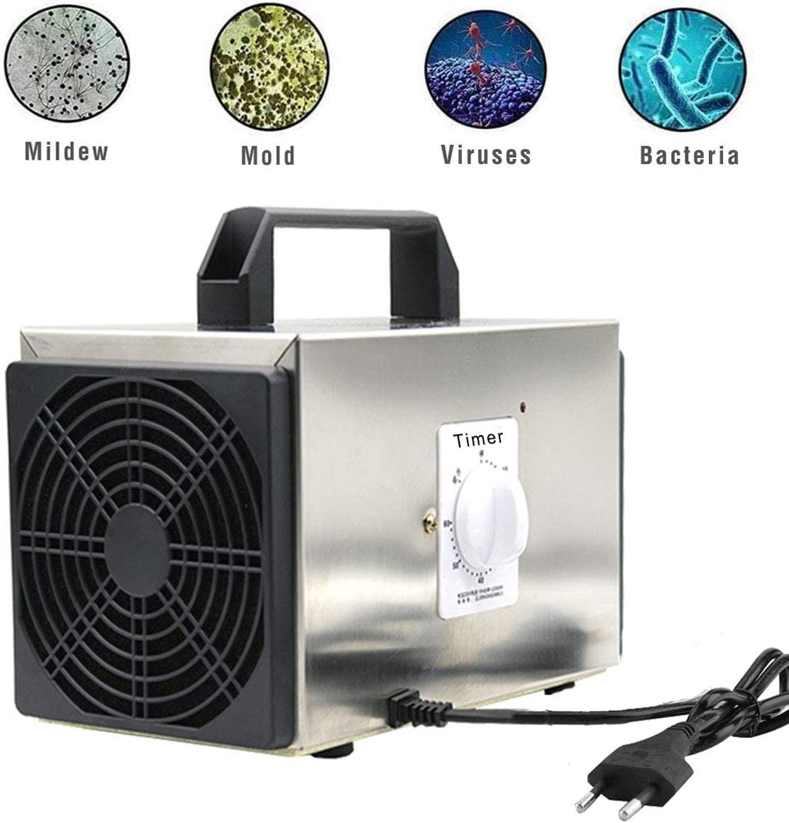 Lychee Generador de ozono Comercial Profesional,10g/h 220V ...