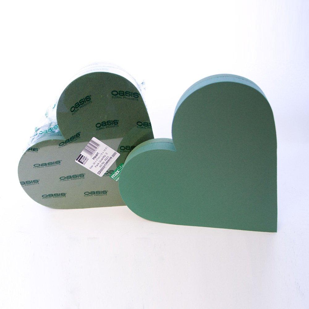 """Paquete De 2 Marcos de corazón de Espuma Floral Oasis 12/"""""""