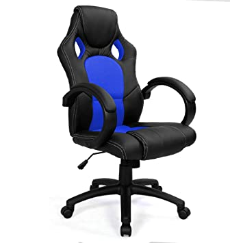 Charming FDS Racing Office Chair Sports Gaming Executive Swivel Armchair (Blue)