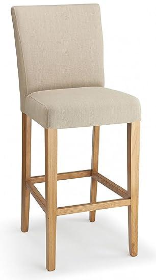 Stupendous Pranzo Fabric Bar Stool Cream Dailytribune Chair Design For Home Dailytribuneorg