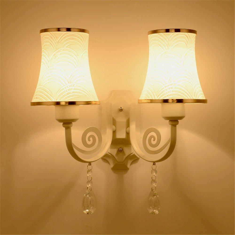 JhyQzyzqj lampada da parete Soggiorno camera da letto in stile americano parete TV a led in vetro della lampada a parete applique da parete