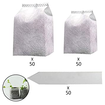 Amazon.com: Volwco - Bolsas de cultivo biodegradables no ...