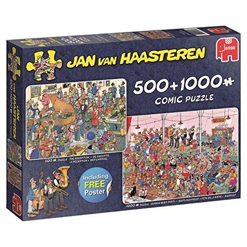 Jumbo Jan Van Haasteren the Reception & German Beer Party Jigsaw Puzzle (500 1000) (1500 Piece) by Jumbo