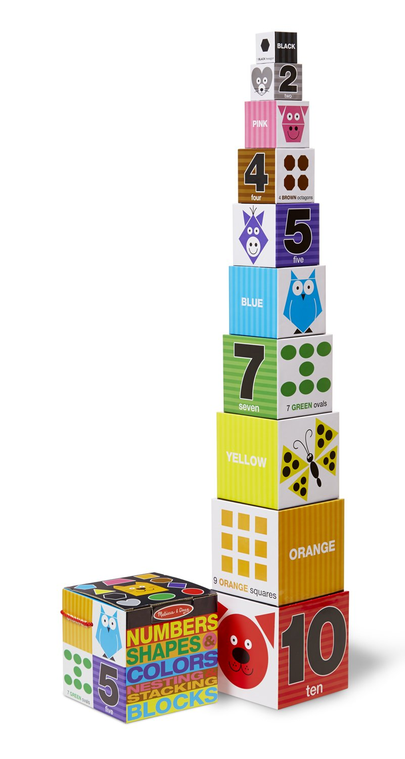 Melissa & Doug Nesting and Stacking Blocks: Numbers, Shapes, and Colors by Melissa & Doug (Image #1)