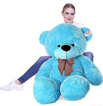 AK Toys Stuffed Spongy Soft Teddy Bear (4 Feet) by AK Toys (Blue)