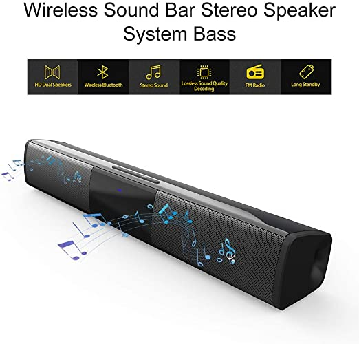 SOWLFE Barra de Sonido inalámbrica Bluetooth, Sistema de Altavoces estéreo con Barra de Sonido inalámbrica para TV, (Cable de Carga, Cable de Audio): Amazon.es: Hogar